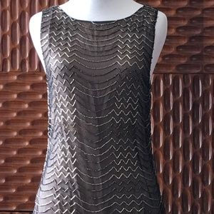 Sequined, Sleeveless, Backless Top